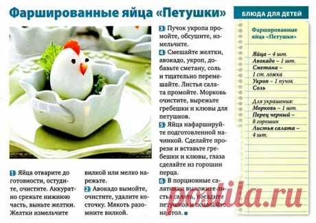 """Фаршированные яйца """"Петушки"""""""