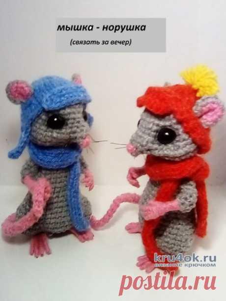 Мышка — норушка крючком (символ 2020 года). Работа DZ.toy