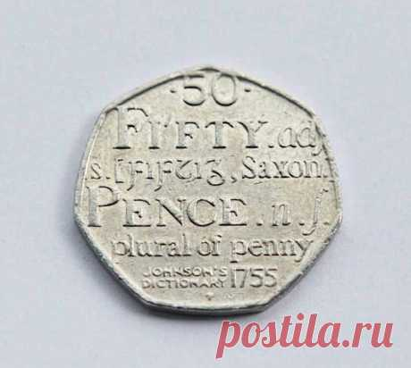 50p Fifty Pence Coin Johnson's Dictionary 1755 Saxon Plural Of Penny 2005  | eBay In October 1969 the 50p joined the 5p (shilling) and 10p (florin) coins in circulation, leaving only the three copper coins to be introduced on 15 February 1971 to complete the new series of decimal coins. | eBay!