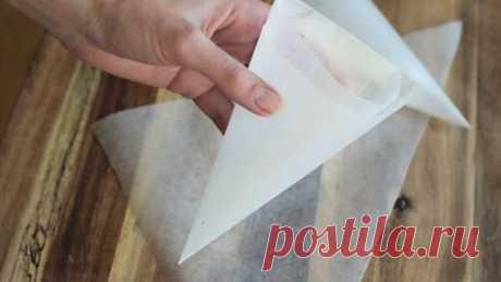 Корнетик. Как быстро сделать корнетик для айсинга, шоколада и крема.