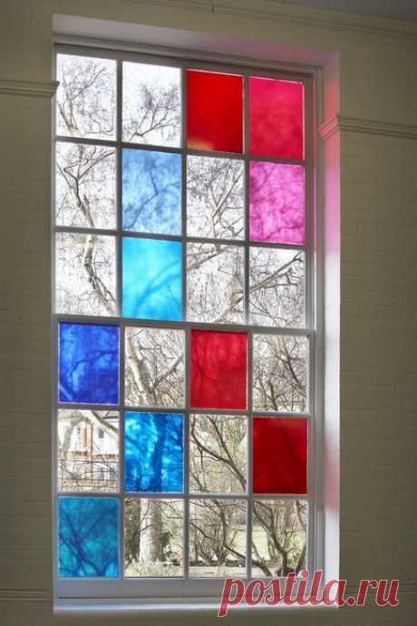 Идеи окон и дверей с цветными прямоугольными вставками — DIYIdeas
