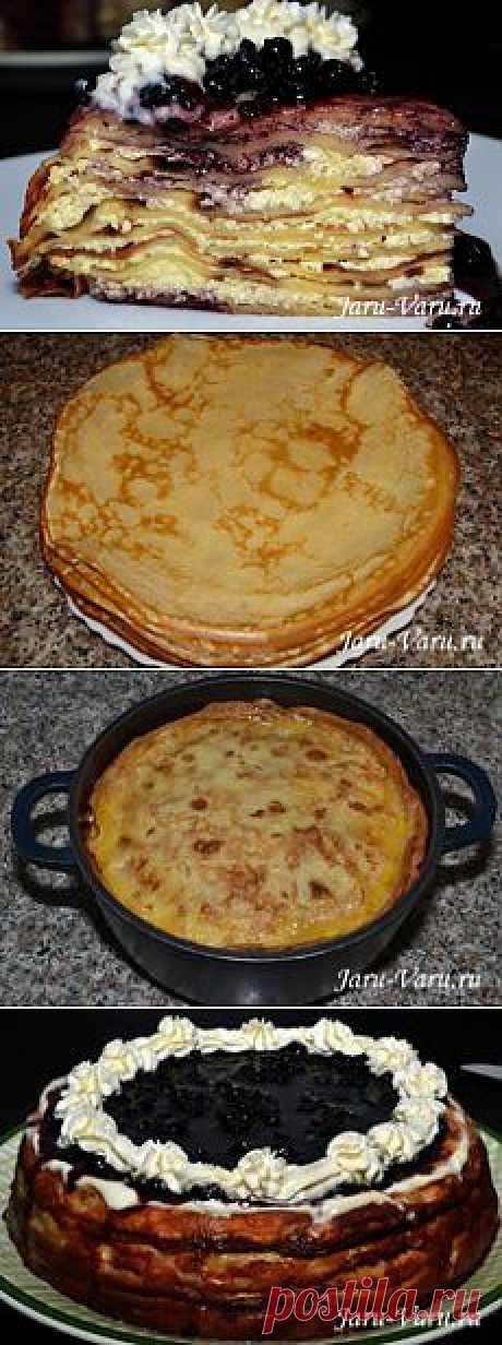 Торт блинный (к масленице)