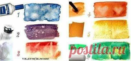 Вот некоторые интересные текстуры, которые вы можете сделать с помощью акварельных красок:
