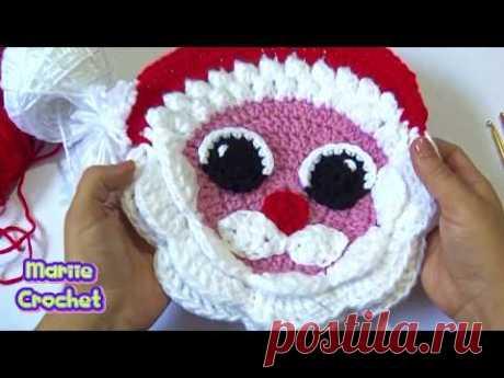 PAPA NOEL  GRANDE  Tejido a crochet paso a paso