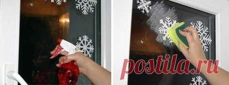 Украшаем окна к Новому году. — Сделай сам, идеи для творчества - DIY Ideas