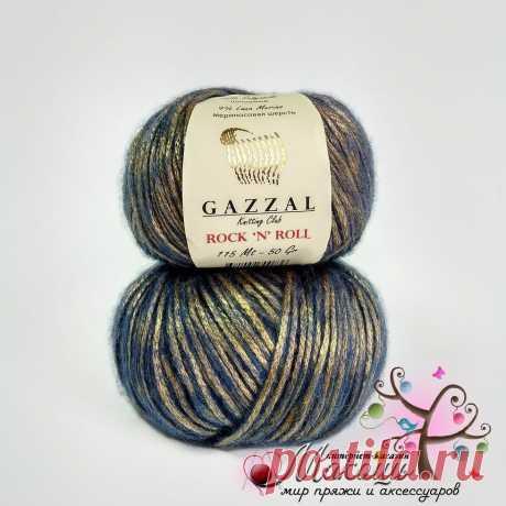 Пряжа Rock-n-roll Gazzal Рокнролл Газал, 13184, голубой с золотом в Украине. Купить по цене 32.8 грн на Zakupka.com. ID: 543073304.
