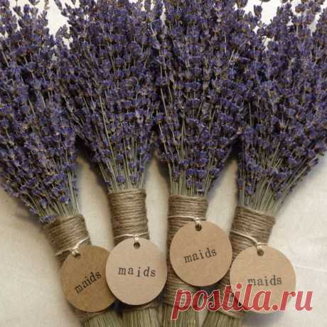 Rustic Lavender Themed Wedding With Lavender Sprigs Tied With Twine