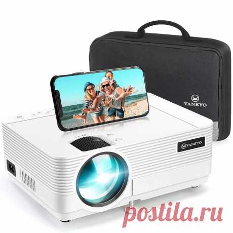 Vankyo leisure 470 mini projector phone same screen synchronize full hd 1080p 4000lumens portable projector with multimedia port Sale - Banggood.com