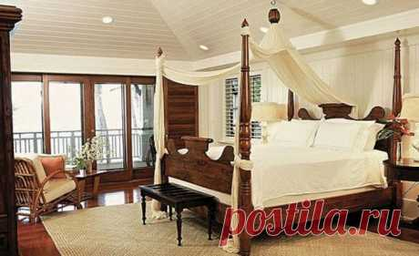 Стиль спальни: кровать с балдахином - 70 идей для романтиков - фото