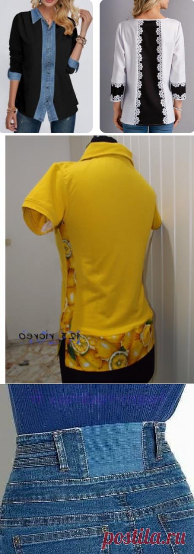 Как я увеличиваю размер изделия, если стало мало: блузки, футболки, брюки и юбки. Интересные идеи. | Провинциалка в теме | Яндекс Дзен