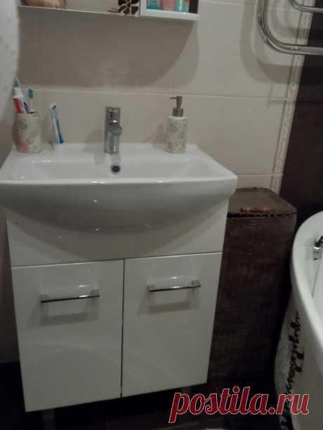 Ванная: даже на 2,32 кв. удобно купаться с маленьким ребенком
