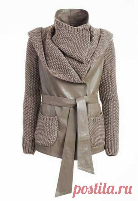 переделки замшевая куртки и пальто с вязанным - Google Search