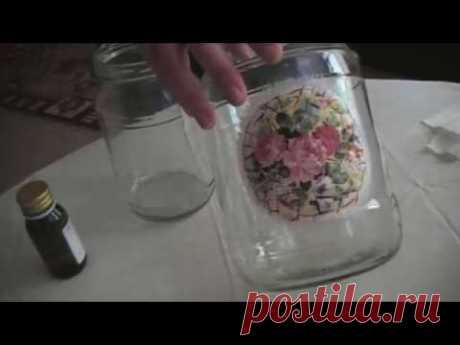 Набор банок. Декорирование стеклянной банки  Часть 3 - YouTube