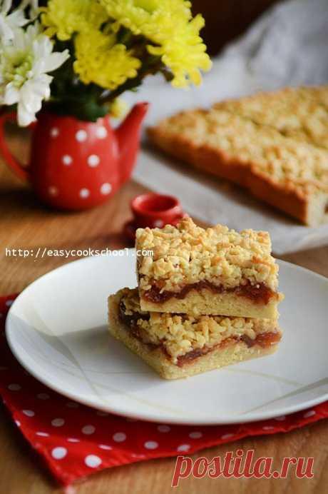 Тертый пирог рецепт с вареньем   Легкие рецепты