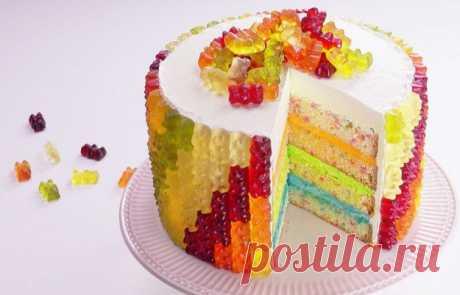 Радужный торт с мармеладом: идеальный десерт для праздника! Дети будут в восторге!