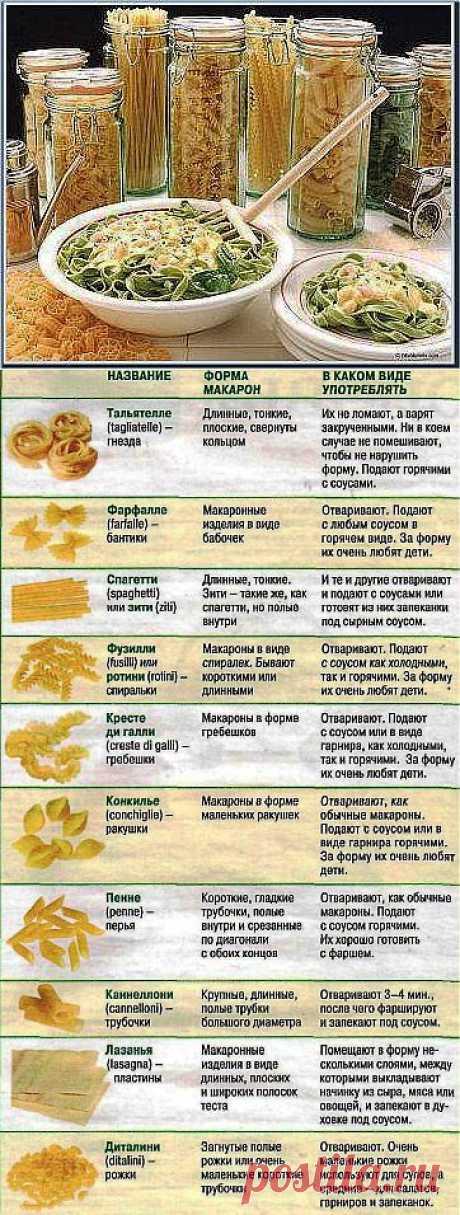 Макароны : что полезно знать / Вторые блюда / Рецепты на любой вкус / Женские секреты / Женский стиль