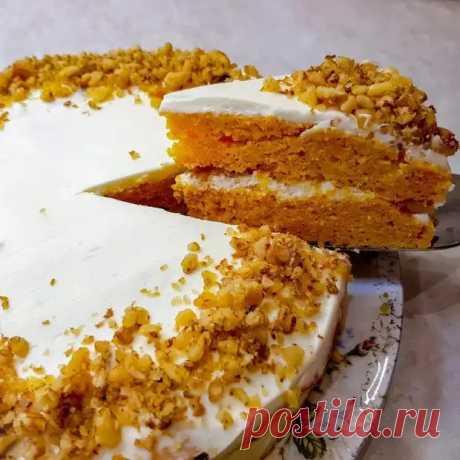Морковный торт со сливочным кремом - БУДЕТ ВКУСНО! - медиаплатформа МирТесен
