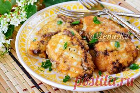 Печень в кляре жареная, рецепт с фото
