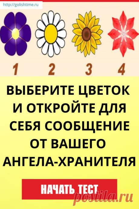 Выберите цветок и откройте для себя сообщение от вашего ангела-хранителя Если вам нужен совет, то этот тест специально для вас.  Выберите цветок, и узнайте какое сообщение он для в
