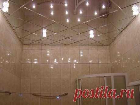 Отделываем потолок в ванной комнате: какой материал выбрать? — Строительство и отделка — полезные советы от специалистов