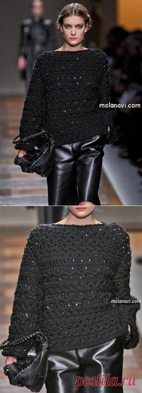 Стильный свитер от Valentino - Вяжем с Лана Ви
