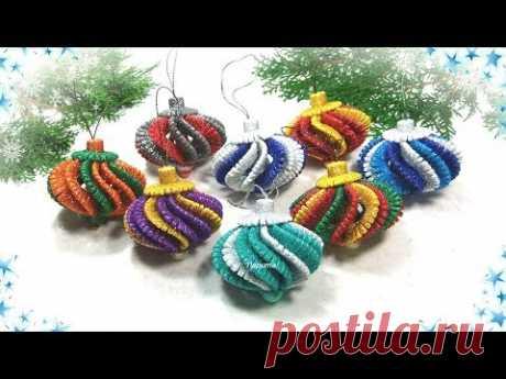 Ёлочные игрушки из фоамирана своими руками / diy christmas ornaments  glitter foam