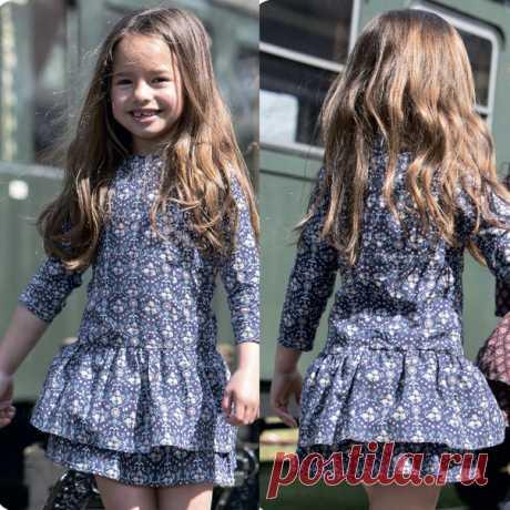 Выкройка Детское платье Размеры на рост 74-164 см  #patterns@thestylishkids