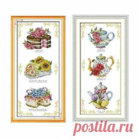 Flower cake teapot , cross stitch kit, cross stitch, modern cross stitch, handmade, needlework, craft gifts, embroidery, embroidery kit, kit Flower cake teapot , cross stitch kit, cross stitch, modern cross stitch, handmade, needlework, craft gifts, embroidery, embroidery kit, kit  ☻ More cross stitch kits : https://www.etsy.com/shop/OscolShop?ref=seller-platform-mcnav§ion_id=24630773  ► Include: Canvas Cotton (without printing)