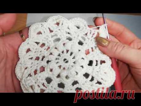 Летний берет крючком .Gorro de verano .Punto crochet. Cap crochet  ( # 17)