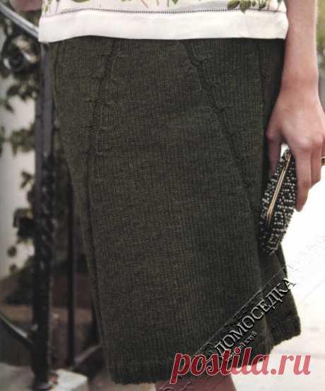 Теплая вязаная юбка | ДОМОСЕДКА