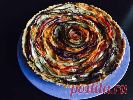 Овощной пирог с творогом - Пошаговый рецепт - ФОТО