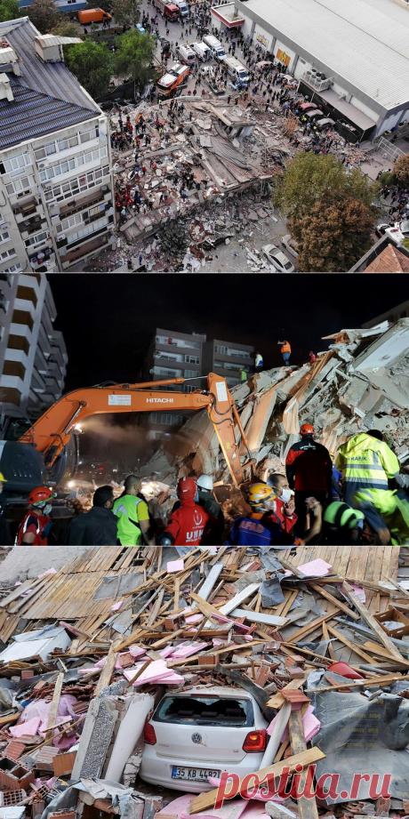 «Рядом с нами обвалился кусок цемента»: Россиянка показала Измир после землетрясения и цунами