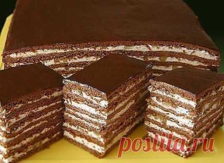 Как приготовить торт медово-шоколадный с орехами! - рецепт, ингредиенты и фотографии