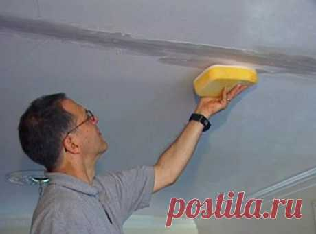 Как зашпатлевать потолок под окрашивание, если видны стыки плит