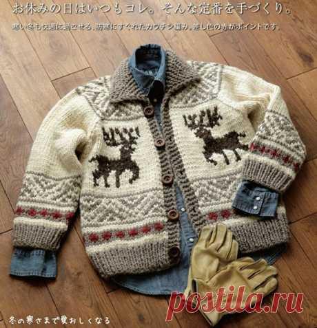 La chaqueta infantil con zhakkardom — Palomitas — la labor de punto infantil por los rayos y el gancho