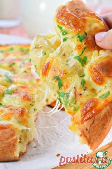 Чесночный хлеб с моцареллой – кулинарный рецепт