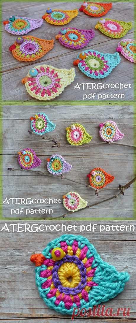 Crochet pattern bird by ATERGcrochet от ATERGcrochet на Etsy