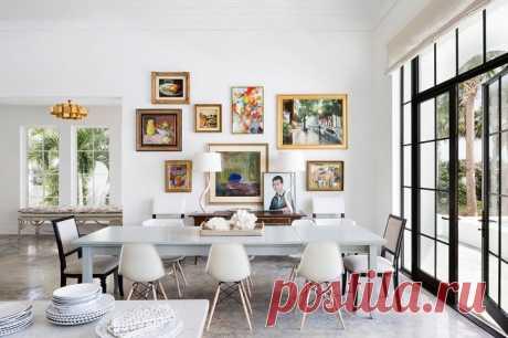 〚 Стильный интерьер дома в Майами 〛 ◾ Фото ◾Идеи◾ Дизайн Этот стильный белоснежный дом в Майами вобрал в себя всё лучшее из окружающего мира: интерьер получился светлым с вкраплениями ярких южных цветов, а также ✌Pufikhomes - источник домашних вдохновений