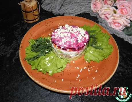 """Салат с печенью трески """"Праздничный"""" – кулинарный рецепт"""