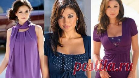Реально большая подборка модных легких блузок с выкройками, которые можно сшить за пару часов!Сшить красивую, модную и удобную блузку совсем нетрудно... (Часть 3) Сшить красивую, модную иудобную блузку совсем нетрудно. При наличии швейной машины инебольших...