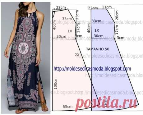 Платье для пышных дам. Красивое летнее макси платье для дамы 56 размера  Расход ткани около 3 метров при ширине 150 см #ДляПолныхдам #повашимпросьбам #выкройка