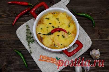 Гратен с креветками. Блюдо для любителей сыра и креветок. Вкусно и в горячем виде, и в холодным. Нежные, мягкие креветки в пряном сырном соусе - просто пальчики оближешь! Очень вкусно и просто!
