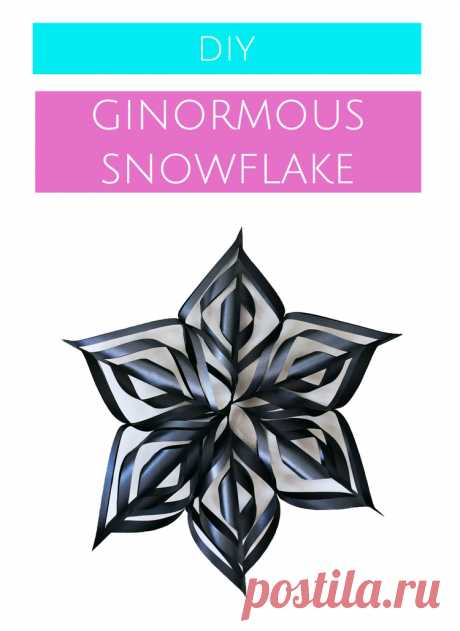 How to make DIY over-sized snowflake decorations for the Holidays — A Charming Project