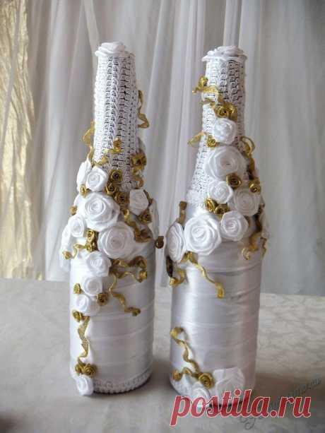«Шампанское жених и невеста на свадьбу своими руками (мастер-класс)» — карточка пользователя tanya.ionko в Яндекс.Коллекциях