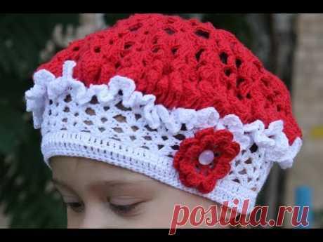 Summer children's beret a hook (on head volume the 49-50th).