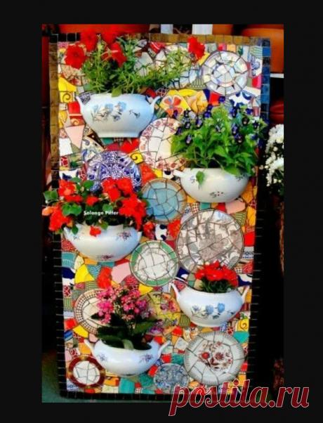 Мозаика из битой посуды (трафик) / Сервировка стола / ВТОРАЯ УЛИЦА - Выкройки, мода и современное рукоделие и DIY