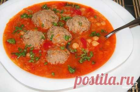 По субботам радую своих близких: томатный суп с мясными фрикадельками и нутом - umn1chka.ru Этот суп ассоциируется с выходными и солнцем! Ингредиенты: Фарш из говядины —...