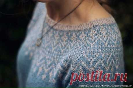 Нежный жаккардовый свитер от Rachel Brockman (Вязание спицами) – Журнал Вдохновение Рукодельницы