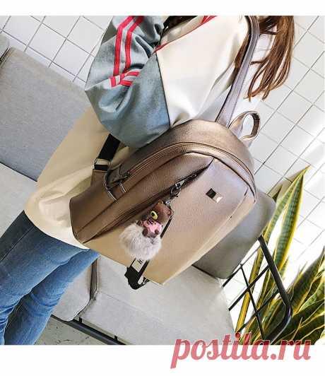 Модный золотой кожаный рюкзак, Женский Черный винтажный Большой рюкзак для девочек подростков, школьная сумка, однотонные рюкзаки mochila XA56H-in Рюкзаки from Багаж и сумки on AliExpress