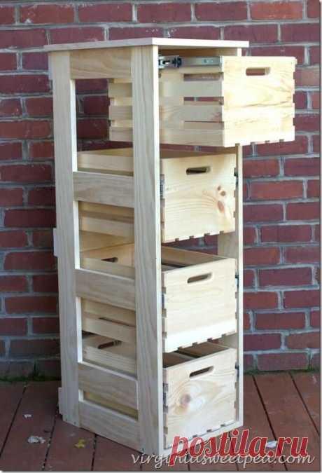Идеи для дома из деревянной тары | Краше Всех